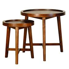 rio round nesting end table