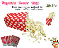 Decorative Popcorn Boxes Free Shipping 60pcs Colorful Popcorn box Decorative Polka Dots 30