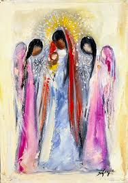 these paintings were complete opposites of the dark imagery portrayed in his earlier works degrazia discovered that painting angels was a subject that