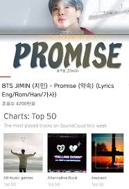 Genius Top Songs Chart Bts Jimin Smashes Another Soundcloud Record With Promise