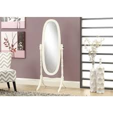 monarch oval standing mirror with wood