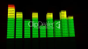 Animation Of Music Graphic Equalisers Royalty Free Video And Stock
