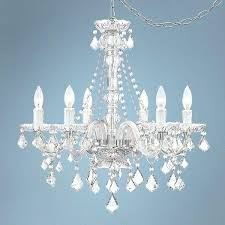 charming plug in swag chandelier clear glass and acrylic plug in swag chandelier plug in swag crystal chandelier