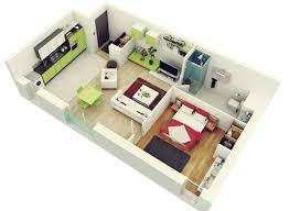 Modern 2 Bedroom Apartment Floor Plans 50 One 1 Bedroom Apartment House Plans Architecture Design