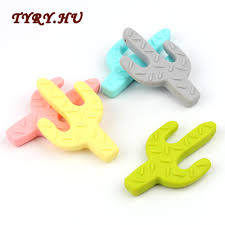 TYRY.HU <b>10Pcs Cactus</b> Teether Materials <b>Food Grade</b> Silicone for ...
