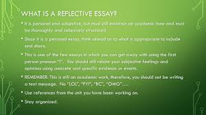 reflective essay what is your cultural identity ppt  what is a reflective essay