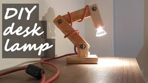 Diy Wooden Desk Lamp With Extra Weight In The Base