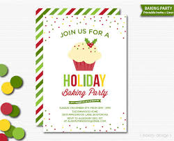 printable christmas invitations holiday baking party invitation printable holiday invitation