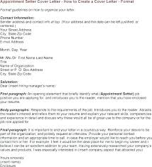 Appointment Setter Resume Appointment Setter Cover Letter ...