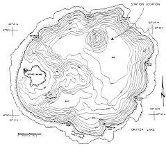 Bathymetric Chart Crater Lake Crater Lake Institute