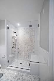 shower door weather strip beach style bathroom and basketweave tile black clear glass shower door gray