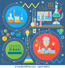 Flat Design Concept Of Science And Technology Scientific Research Chemical Experiment Infographics Concept Design Web Elements Poster Banner