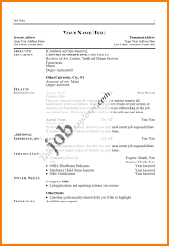 Resume Types Of Resume Formats Examples And Different Functional