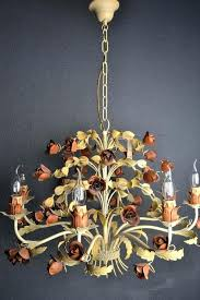 antique tole chandelier tole chandelier with roses 8 light bulbs by antique italian tole chandelier