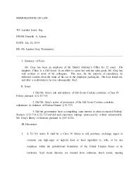 Help Writing A Legal Memorandum