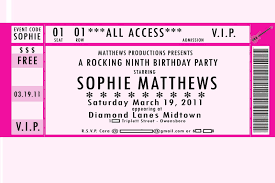 32 best vip ticket pass template designs for your events thogati 32 best vip ticket pass template designs for your events lovely birthday party vip ticket