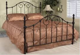Vanessa Queen Antique Brown Wrought Iron Bed Frame traditionalbeds