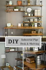 Pipe Desk Design Diy Rh Industrial Desk And Shelving I Know This Is