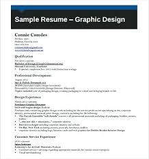 Resume Of Graphic Designer Sample Graphic Designer Resume Template