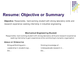 Strong Objectives For Resumes Good Career Objectives For Resume