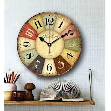 colorful wall clocks colorful wooden decorative wall clocks for kitchen