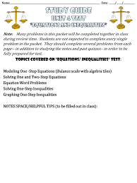 ppt study guide unit 4 test equations and inequalities powerpoint presentation id 2610706
