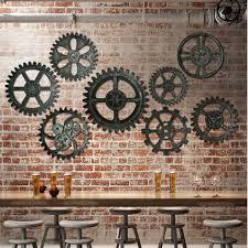 42cm vintage retro gear wall decor industrial antique art home bar cafe hotel decor