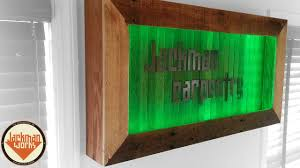 led lighted logo shadow box