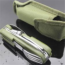 9in1 <b>Folding</b> Tableware With Led Light Outdoor Camping Fork ...