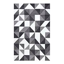 black white and gray rug geometric triangle mosaic black gray white area rug black white yellow