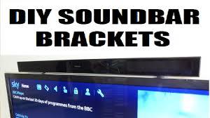 how to make easy diy tv soundbar brackets