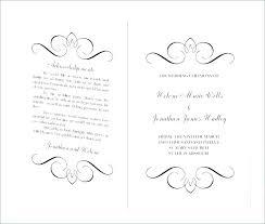 Wedding Bulletin Template Biggroupco Co