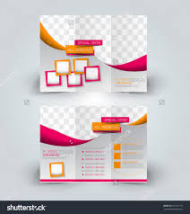 brochure mock design template business education stock vector brochure mock up design template for business education advertisement trifold booklet editable printable