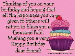 Happy Birthday Wishes, Quotes, Sayings and Messages for a Friend ... via Relatably.com