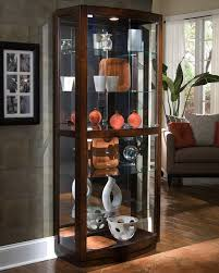 pacific heights curio cabinet wayside with light for home furniture ideas antique corner kitchen pulaski lighted