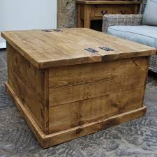 furniture large square storage chest trunk wood box coffee table wooden wicker pine diy antique