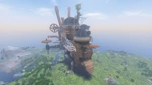 マインクラフト建築 ハウルの動く城