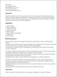 Resume For Financial Analyst Impressive Entry Level Financial Analyst Resume Template Best Design Tips