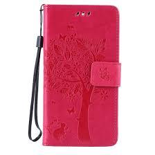 Shop Rose Tree Design <b>PU Leather Flip Cover</b> Wallet Card Holder ...