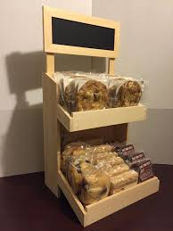 Bakery Display Stands Rustic Wood Retail Store Product Display Fixtures Shelving 55
