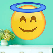 wall stickers smiling face with halo