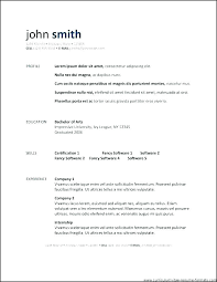Resume Templates Open Office Free Inspiration Resume Template Openoffice Administrativelawjudge