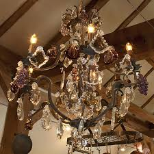 bagues antique french chandelier with fruit
