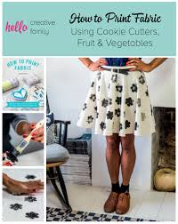 How Do You Design Your Own Fabric How To Print Fabric Using Cookie Cutters Fruit And