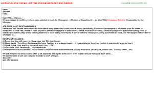 Wsp Job Offer Letters Examples