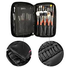 travelmall professional cosmetic makeup brush organizer makeup artist case with belt strap holder multifunctional cosmetic makeup