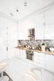 Deco Loft Luxe Cuisine Luxe Carrelage Hexagonal Noir Blanc Spots Led