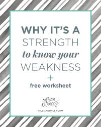 why it s a strength to know your weakness worksheet why it s a strength to know your weakness gillian tracey design blog