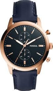 Наручные <b>часы мужские Fossil</b>, <b>FS5436</b>, синий