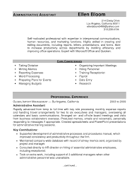 Free Resume Sample For Administrative Assistant Refrence Sample